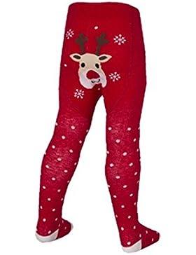 Baby 's Christmas Fun Bum Strumpfhosen. Weihnachtsmann oder Rentier