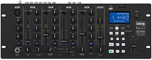 IMG STAGELINE MPX-40DMP Stereo-DJ-Mischpult mit integriertem MP3-Spieler schwarz -