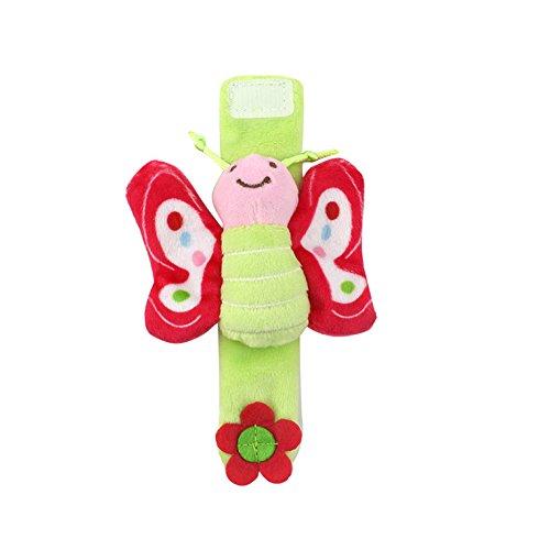 gelenk-Rasseln, Educational Entwicklung Weich Tier Spielzeug Dusche Geschenk (Cute Bee) 1Stück Weiß Schmetterling ()