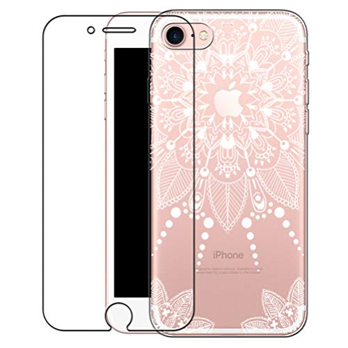 Galleria fotografica Bestsky Cover iPhone 6 Plus/6s Plus [Pellicola Protettiva in Vetro Temperato], Custodia Trasparente Silicone Mandala Antiurto Protettiva Shell per Apple iPhone 6 Plus/6s Plus
