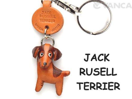 jack-russell-terrier-cuero-perro-pequeno-llavero-vanca-craft-collectible-llavero-hecho-en-japon