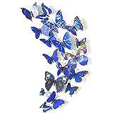 Home Decor 3D della farfalla di modo Animal Wall Sticker PVC farfalla di simulazione