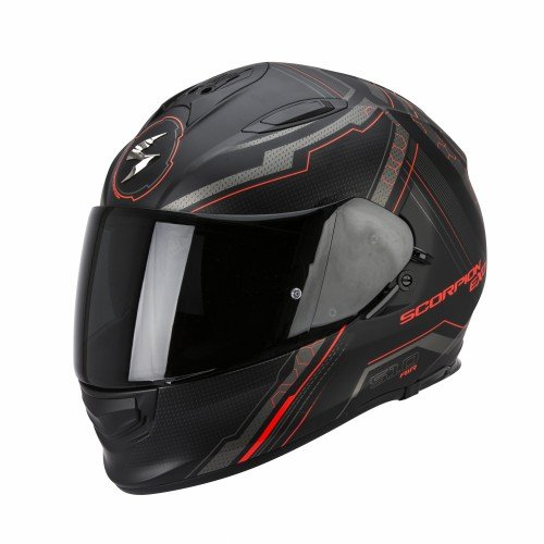 Scorpion Helm, Matt Schwarz/Rot, S