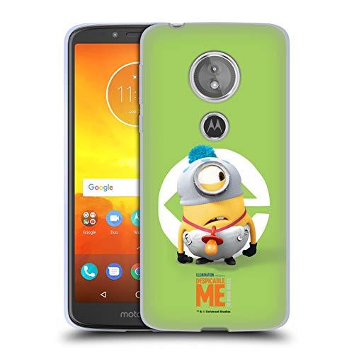 Head Case Designs Offizielle Despicable Me Stuart Baby Kostuem Minions Soft Gel Huelle kompatibel mit Motorola Moto E5