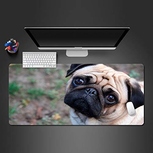 3mm Super Cute DogMauspad Waschbar Vivid Mops Hund Neues Design Anti-Rutsch-Mousepad Computer-Mauspad PC Gaming Pads Glatte Oberfläche, rutschfeste Gummibasis ()