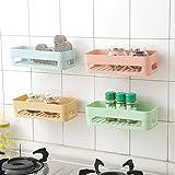 Gaddrt Mensola Di Plastica Dell'Acquazzone Dell'Organizzatore Della Cremagliera Dell'Angolo Di Stoccaggio Della Cucina Del Bagno (Pink)