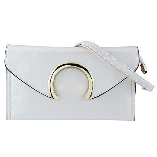 Clutch Aus Weißem Leder Handtaschen (Bagood , Damen Clutch Gr. One size, beige)