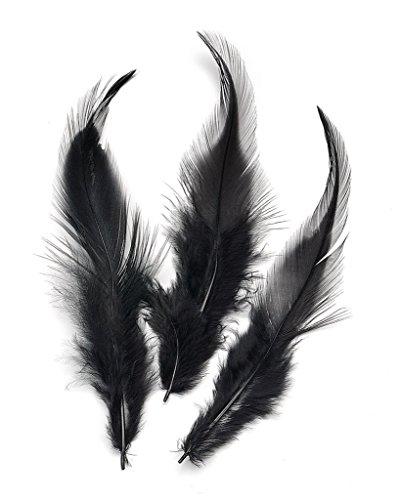 ERGEOB® 100 piezas Accesorios de bricolaje joyas artesanía plumas de gallo 10-15cm