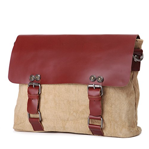 Retro Herren Umhängetasche Canvas Baumwolle/Europäische Mode Casual Messengerbag-A B