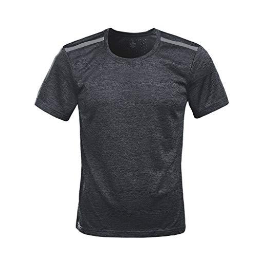 Shangqi Gym Herren Fitness T-Shirt Slim Fit | Moderner Männer Bodybuilder Trainingsshirt Kurzarm Top | Herren Sport T-Shirt - Bekleidung für Bodybuilding Training (Disney-management)