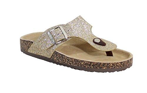 By Shoes , Damen Räumschuh Gold