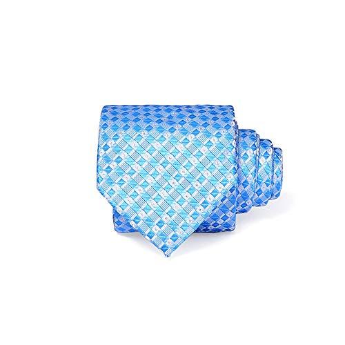 Yetta Home 8cm Herren Anzüge Krawatte Streifen Interview Arbeit in der Ehe die Bräutigam Krawatte männlich zu männlich Geschenke Geschenkbox blau Steigung Gitter Krawatte 8cm