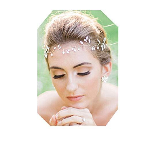 4a19a712955c5e Lalia Vintage Haarschmuck Kranz Hochzeit Blumen elegant Braut Retrostil  Haarkamm Diadem Haarschmuck klar, Perlen