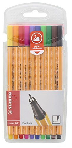 Fineliner – STABILO point 88-10er Pack – 10 Standardfarben