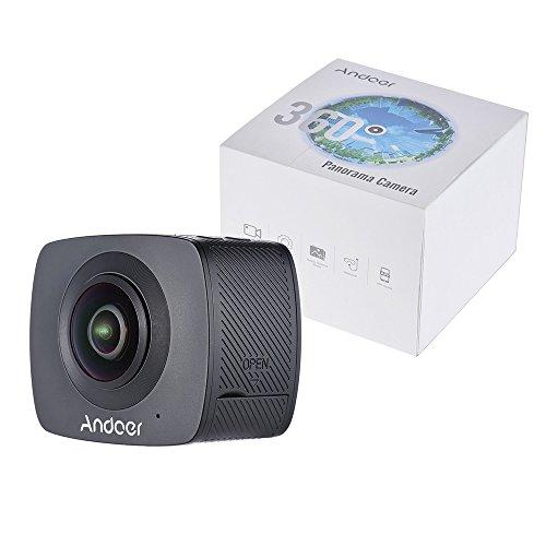 Andoer Doppel-Objektiv 360-Grad-Panorama-Digital-Video-Sport-Action-VR-Kamera 1920 * 960P 30fps HD 8MP mit 220 Grad-Fisch-Augen-Objektiv - 2