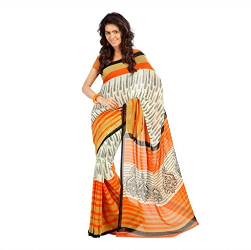 Shaktideal Dailywear light weight printed sarees red