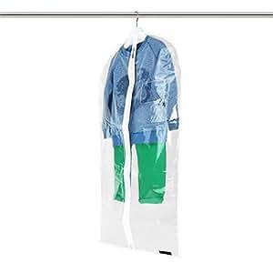 Hangerworld - Housse de protection transparente pour vêtements enfants. 96cm x 46cm.