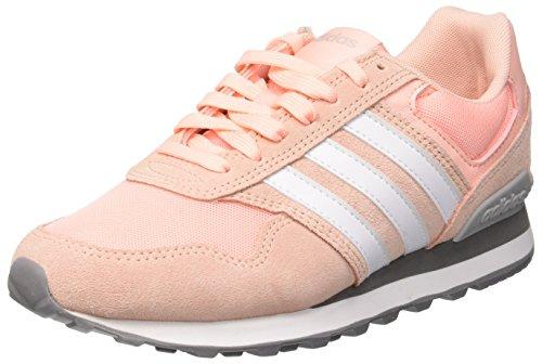 adidas Damen 10k W Fitnessschuhe, Rot (Haze Coral S17/Ftwr White/Grey Two F17 Haze Coral S17/Ftwr White/Grey Two F17), 38 EU