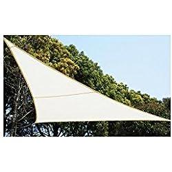Toldo Vela de sombra 4 x 4 x 4 metros - Impermeable para dar sombra a su jardín, terraza o balcón - Color BLANCO.