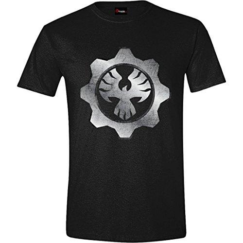 Gears Of War 4-Fenix Omen maglietta da uomo, colore: nero Black X-Large