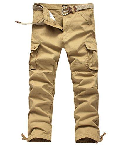 Ghope Herren Hosen Cargo Hose Lange Freizeithose Feldhose Baumwolle Arbeitshose Kampfhose Rangerhose Straight Leg mit 6 Tasche (Shorts Bdu Baumwoll-twill)
