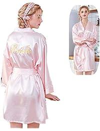 Pijamas de Pijama Sexy para Mujer, camisón Bordado en Las Batas traseras y Kimono