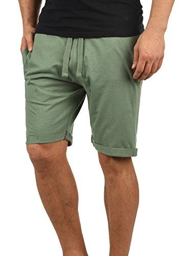 Blend Stilo Herren Sweatshorts Kurze Hose Jogginghose Mit Kordel Regular Fit, Größe:L, Farbe:Laurel Green (77207) (Stretch-cord Grüne)