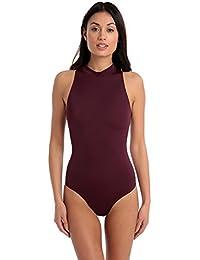 03283d7d51c69 Halocline Sleek Zip Back One Piece Swimming Swimsuit - Mulberry