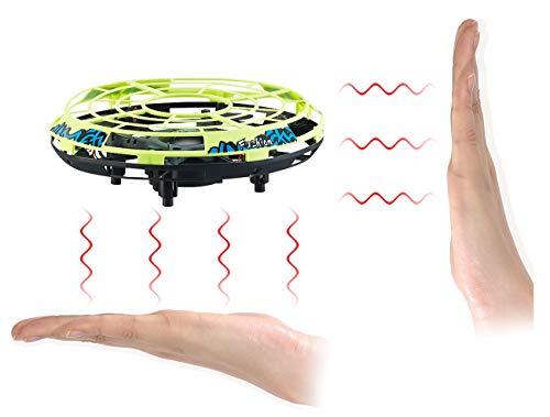 Simulus Multicopter: Selbstfliegendes Quadrocopter-UFO mit Infrarot-Sensoren und LEDs (Mini Drohne)