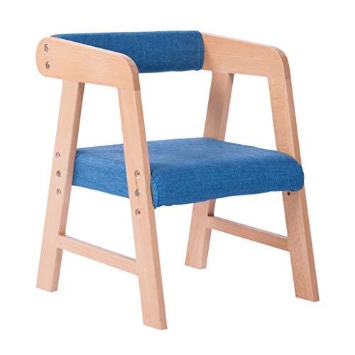Set Massivholz Sessel (ZY Children's study chair Massivholz Kinderarbeitsstuhl, Set Lift Home Sessel Höhenverstellbare Sitzhaltung, für Zuhause/Computer Tisch/Esstisch)
