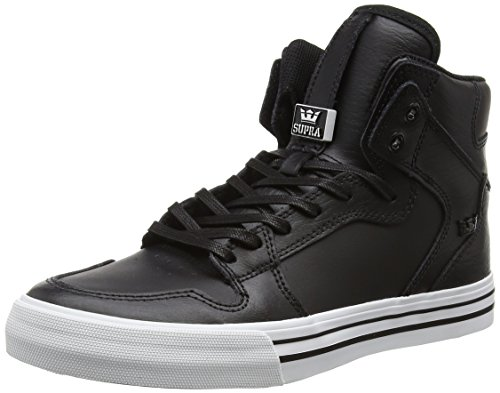Supra Unisex-Erwachsene VAIDER High-Top, Schwarz (BLACK - WHITE BKW), 40 EU (Top Supra High White)