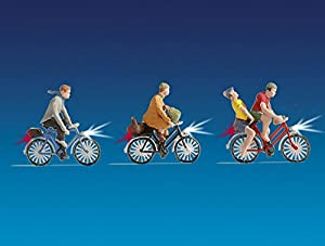 NOCH Todavía 17001-Juguetes, fop de Pack Iluminado Ciclista