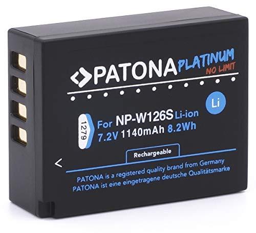 Patona Platinum - Ersatz für Akku Fujifilm NP-W126 NP-W126s (echte 1140mAh) FinePix HS50EXR HS30EXR HS33EX X100F X-A5 X-A10 X-E3 X-ES2 X-H1 X-M1 X-Pro1 X-Pro2 X-T1 X-T2 X-T3 X-T10 X-T20 X-T30 X-T100 Np-20 Batterie