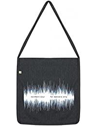 Top Quality 'Recycled' Northern Soul Dancers Shopper Tote Sling Bag Dark Grey