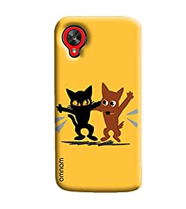 Omnam Two Animal Enjoying Printed Designer Back Cover Case For Google Nexus 5