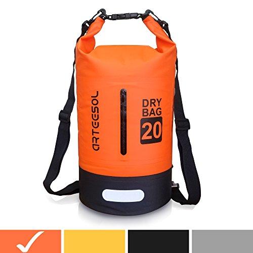 Arteesol Dry Bag Wasserdichte Tasche 5L/10L/20L/30L wasserfester Beutel mit Langen Doppeltem Verstellbarer Schulterriemen Trockentasche für Schwimmen Bootfahren Kajak Wassensport Treiben