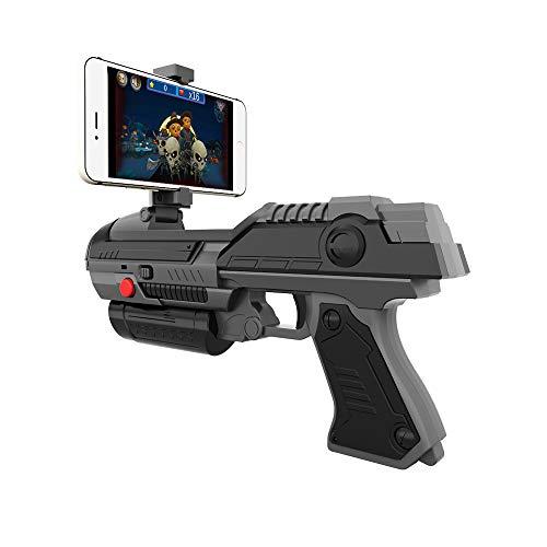 ZMH VR Spiel AR Gun Schießen Spiel Smartphones Bluetooth Steuerung Spielzeug Für IOS Android Air Guns Schwarz Und Weiß (Schraubendreher-gun)