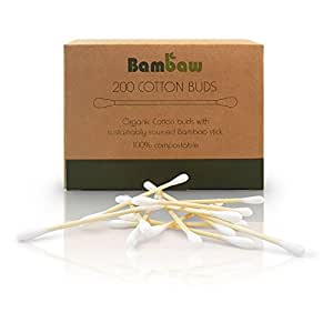 Bamboo Cotton Buds | Eco Cotton Buds | Cotton Swab | Wooden Cotton Bud | Eco Friendly packaging | Recyclable & Biodegradable cotton buds | Bambaw … (200)