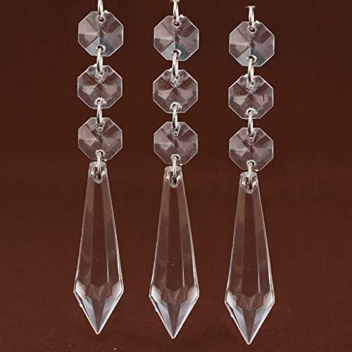 Dekorativer Kristallanhänger, TianranRT Hängender Perlenvorhang für die Hochzeitsdekoration in 10er-Packs - String Kunststoff-handwerk