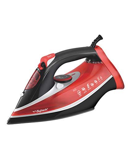 Sytech Plancha de Vapor Profesional 3000W, Rojo, 13,5 x 32,5 x 15,6 cm