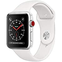 Apple Watch Series 3 - Relojes inteligentes (GPS + cellular, con Caja de 42 mm de Aluminio en Plata y Correa Deportiva Blanca)