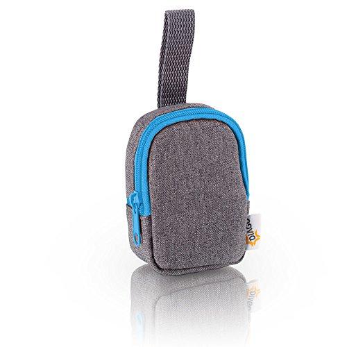 DIAGO 30068.75274 Deluxe Schnullertasche grau/blau