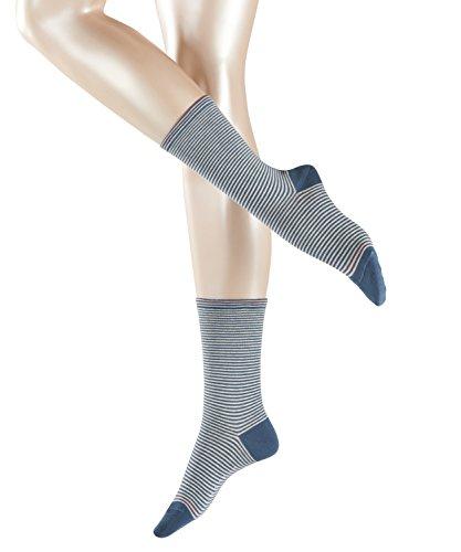 ESPRIT Damen Socken Stripe, Mehrfarbig (Venice Blue 6233), 35/38