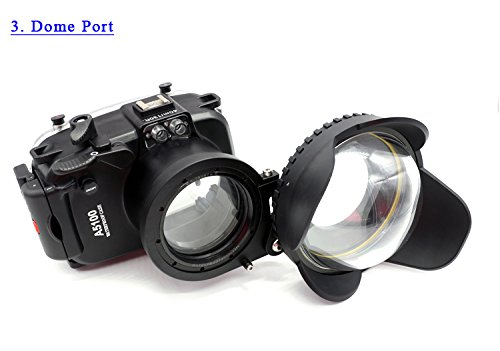 Buy CameraPlus – 40M 130ft Waterproof Diving Housing Case for Sony A5100(16-50mm) with Accurate Alarm Buzzer Equipment And 1/4 tripod connector Online