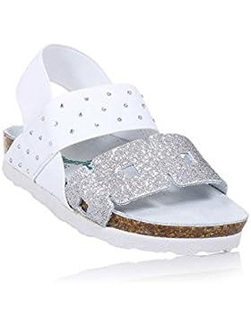 BIONATURA - Weiße Sandale, ausschließlich made in Italy, aus hochwertigen und allergiegetesteten Materialien,...