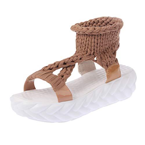 Frauen Damen Sommer Mode plattform Sandalen Komfort große größe Casual ()