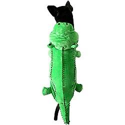 ranphy mediano mascota/gato ropa para niños niñas perro cachorro de disfraz de piel de cocodrilo pijama Doogy invierno Prendas de vestir Verde
