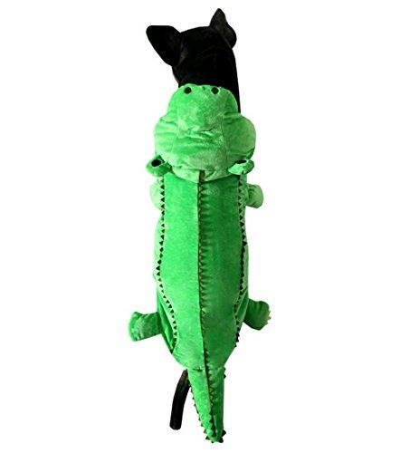 ranphy mittel Pet/Katze Kleidung für Jungen Mädchen Hund Krokodil Kostüm Puppy Schlafanzüge Doogy Winter Apparel Grün