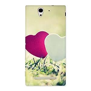 Impressive Heart Couple Multicolor Back Case Cover for Sony Xperia C3
