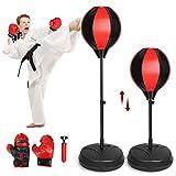 Homgrace Punching Ball Enfant Punching Ball sur Pied réglable en Hauteur 70cm-105cm...